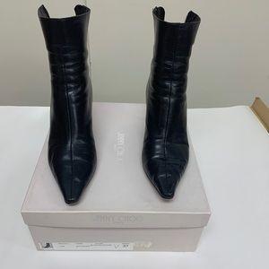 Jimmy Choo Black Leather Booties